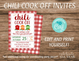 chili cookoff invite