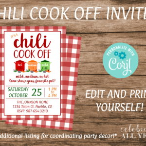 chili cookoff invite