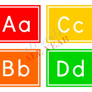 alphabet flash cards classroom letters