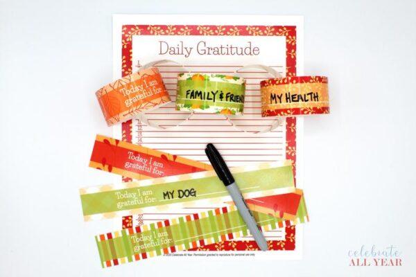 thanksgiving gratitude chain