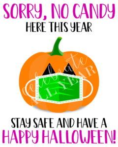 halloween candy pumpkin facemask