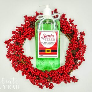 hand sanitizer christmas santatizer