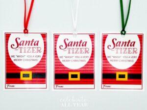 hand sanitizer christmas santatizer
